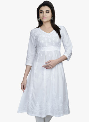 FABINDIA White embroidered Anarkali Rs. 2790