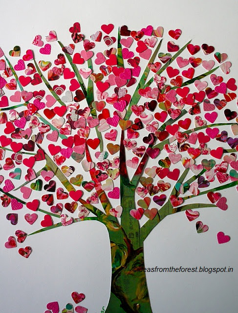 Diy Home Decor Valentine Hearts Tree Day 7 Thewoomag Top Magazine For Women Features Lifestyle Relationships Diys Beauty Fashion Career Biz Travel Real Issues Tips And Advises
