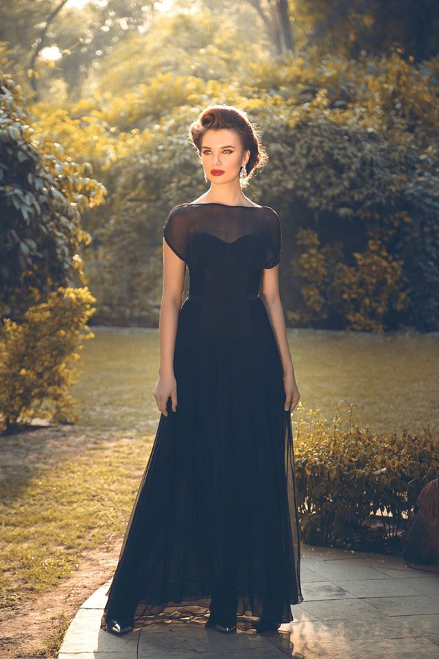 Classic black gown by birdwalk